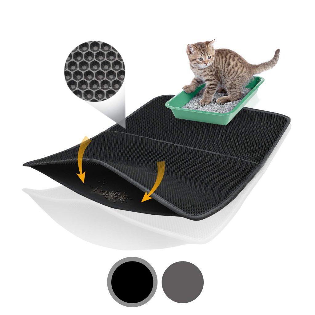 alfombrilla con diseño pañal para gatos
